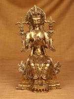 Brass Buddha Prince Sitting on Throne