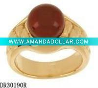 Plating Yellow color Silver Natural Pearl Ring Designs DR30190R Accept PayPal