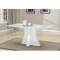 White Artificial Marble Topped Dining Table Customized Folede 1600*900*750mm