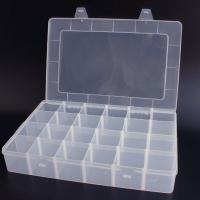 24 compartment clear plastic box