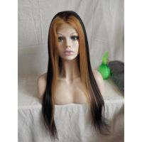 China 100% Virgin Human Hair Lace Wig Ombre Color on sale