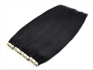 China straight brazilian hair Tape in hair extension,#1 colour PU hair extension on sale