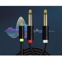 China 3.5mm to Double 6.5mm Audio Cable Male to two Male Plug Line 6.35 Speaker Cable 3.5 to 6.5 Double Head Adapter on sale