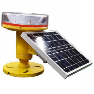 China CM-11-T FAA L-810 Red LED Solar Obstruction Light Tower Night Markers Solar Power Aircraft Warning Lights on sale