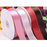 China 1 Inch Gift Wrap Ribbon Roll , Double Faced Satin Ribbon 100 Yards on sale