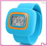 China colorful silicone kids slap watch wholesale