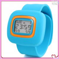 China colorful silicone kids slap watch on sale