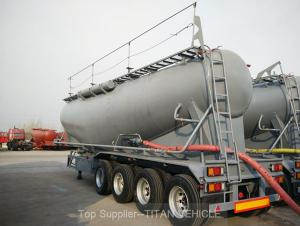 TITAN 60m3 Dry cement tank trailer 4 axle 80 tons capacity