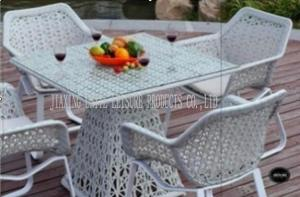 Quality White Indoor / Outdoor Patio Furniture Patio Table And Chairs Set For Conversati for sale