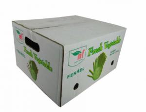 China FSC Approved Recycled Fruit Boxes , Corrugated Storage Boxes For Fresh Fruit Customized Size on sale