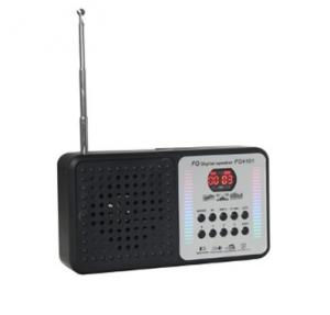China Multi-function Digital, Portable FM Radio Card Rechargeable Mini Speakers with Flashlight on sale