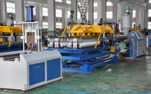 China PA / PVC Single Wall Corrugated Pipe Extrusion Line / Pipe Extruder Line SBG-250 on sale