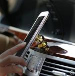 Resbalón giratorio magnético del tenedor del teléfonode la rejilla de ventilación de coche no con el marco de la aleación de aluminio