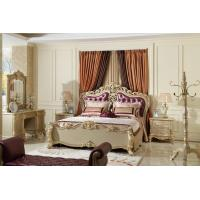 Luxury Classic Bedroom Furniture Bed sets Golden painting Wood and high end of fabric Headboard factory direct Price