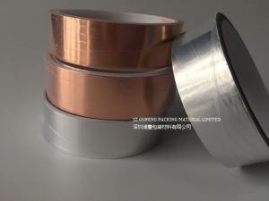 China Antistatic Die Cut Adhesive Tape Conductive Copper Foil / Aluminium Foil Backing on sale
