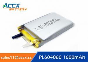 China li batteries PL 604060 3.7V 1600mAh lipo battery for led, power bank on sale