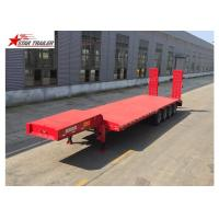 Easy Operate Extendable Drop Deck Trailer , Extendable Lowboy Trailer With Fixed Landing Leg