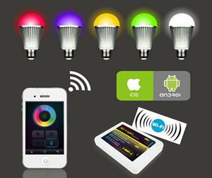 China RGBw warm white 9w led bulb, remote control led light bulb,wifi color changing bulbs light on sale