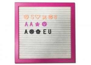 China Pink Frame Felt Letter Board Customized Size With DIY Changeable Letters on sale