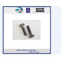 T head half thread full threaded railway bolt rail fastener and nut