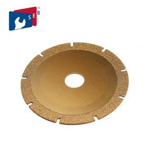 China 105 Mm Granite Cutting Wheel , Dry Cutting Blade Vacuum Brazed Technology on sale