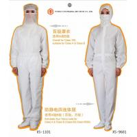 Medical Surgical Instruments Men / Women Anti Static Overalls Suitable For Class A & Class B /  Class 100
