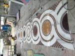 Custom Stone Floor Medallions , Natural Stone Floor Tile Mosaic Medallions