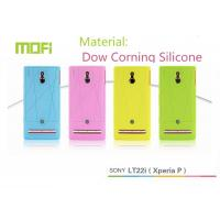 Blue / Pink Mofi Decorative Dow Corning Silicone Phone Covers For Sony Lt22i