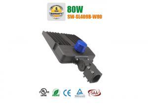 China UL ETL DLC 80w LED shoebox light fixtures high performance 140lm / w on sale