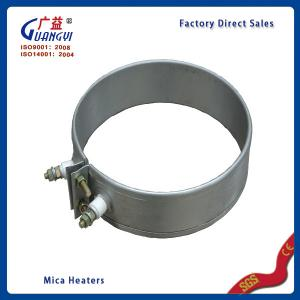 China 100mm*80mm 220v Stainless Steel mica band heater mica heating elements on sale