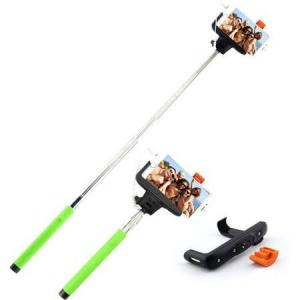 China Foldable selfie stick wired selfie stick phone holder stick for smart phones on sale