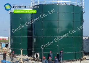 China Glass Fused To Steel Bolted Livestock Manure Storage Tank Dark Green Coating Color on sale