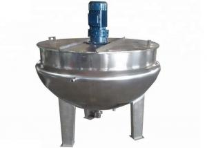 China LMJK Food Processing Machine Vertical Stainless Steel Jacketed Kettle With Blender / Cover on sale