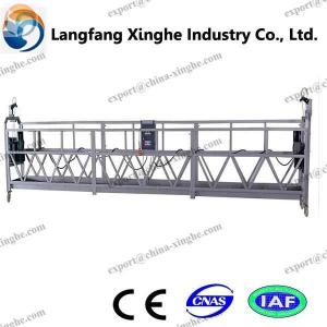 China Suspended platforms with fixed corner sections for glass cleaning and fitting on sale