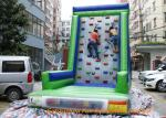 China Customized Inflatable Sport Games , Rocky Mountain Deluxe Inflatable Climbing Wall wholesale