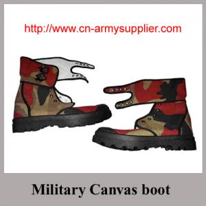 China Wholesale Cheap China Army Color Military Training Cotton Canvas Boots on sale