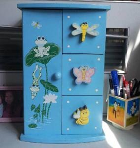 China Superway Cabin children lovely jewelry box Fashion Children Wooden Jewelry Box on sale