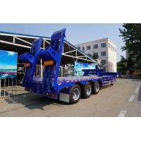 China 3 axle 60 tons/80 tons semi trailer low loader with excavator recess for sale on sale