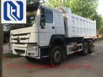 10TIRES Mining Industry Heavy Duty Dump Truck 336HP 6X4 RHD 30 Ton White / Red / Green