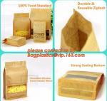 stand up pouch biodegradable zipper bag kraft paper bag, Resealable Snack Stand up Zipper kraft paper Pouch Aluminum