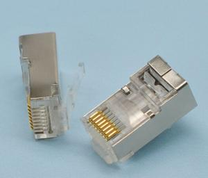 China Data Transfer Rj45 8p8c Connector , 8 Pin Network Cable Connector 1.1mm Pitch on sale