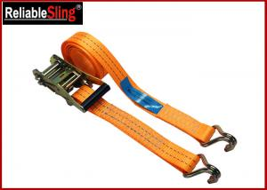 Quality High Strength Ratchet Tie Down Strap For Trucks Color Customized with Claw hook for sale