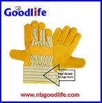 Different quality cow leather gloves for option for industrial workers