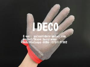 China Chainmail Mesh Butcher Gloves, Metal Ring Mesh Gloves Cut Proof Stab Resistant, Safety Kitchen Cut Gloves on sale