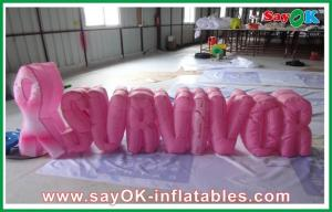 China Party Nylon Cloth Red Inflatable Decoration / Inflatable Letters on sale