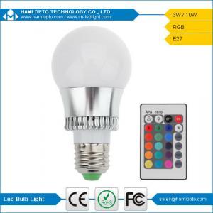 China RGB LED Bulb light 16 Colors changing 3W IR remote E27 RGB LED bulb light AC85-265V on sale