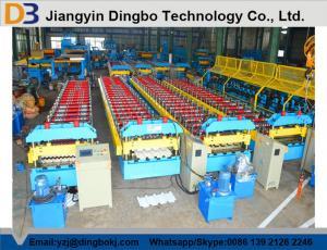 China 10m/rollo de trabajo mínimo del panel del tejado de la velocidad que forma la máquina de poco ruido on sale