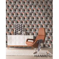 China Fashion PVC 3D Home Wallpaper for Living Room Germetric Pattern Design on sale