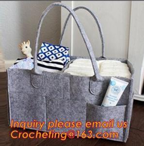 China basket nursery storage felt diaper caddy, multi pocket felt diaper caddy bulk buy from China on sale