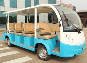 China EQ8141-6 48V 4KW/72V 5kw(7.5kw) 14 seats electric sightseeing bus/tourist car on sale